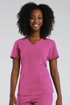 Do you basically live in your scrubs? If the answer is yes, then you have to try our new Pure Soft scrub collection. This line is made with soft, movable fabrics that will keep you feeling cozy all work day (or night) long! The top featured here has three pockets, princess seams for added shape, and a curved v-neck. Pair it with any pant from our Pure collection (yoga waistband included) for the comfiest medical outfit you'll ever wear. #scrublife #maevnscrubs #nursing #medstudent #doctor