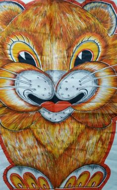 Vintage Richard the Lion Fabric Panel Cut Sew & Stuff Pillow Jungle Cat Uncommon #CranstonVIPor