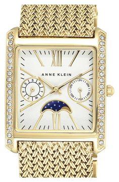 Anne+Klein+Rectangular+Mesh+Strap+Watch,+30mm+x+37mm+available+at+#Nordstrom