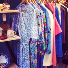 Rails in our Frome charity shop are packed with vintage dresses ready for the frome independant market on sunday!  www.bathcatsanddogshome.org.uk www.thefromeindependent.org.uk