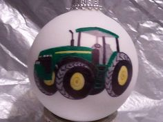 John Deere tractor themed holiday ornament by MKidwellDesigns, $11.00