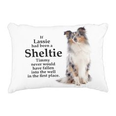 Timmy's Blue Merle Sheltie Pillow - blue gifts style giftidea diy cyo