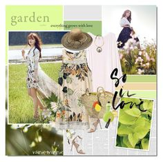 """Summer Garden"" by rainie-minnie ❤ liked on Polyvore featuring Gianvito Rossi, philosophy, Marc Jacobs, Essie, Current Mood, Marni and Michael Stars"