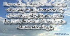 I have a dream - Martin Luther King, Jr.  - inpcreative.com