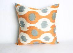 Uzbek Silk Ikat  Pillow Case Handmade Pillow by YUNERSHOP on Etsy