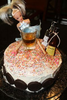 drunk barbie cake- funny for 21st birthday