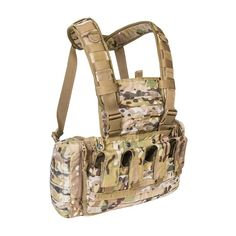 Chest Rig van Tasmanian Tiger. Lichtgewicht, universele harnas met zijvak voor pantserplaten. https://www.urbansurvival.nl/product/chest-rig-mkii-multicam/