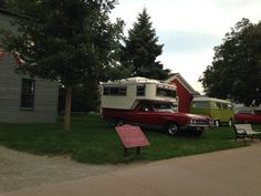 '69 El Camino with optional original '70 Idlewild Camper at Motor Musters at Greenfield Village