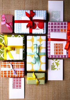 colorful gift wrapping