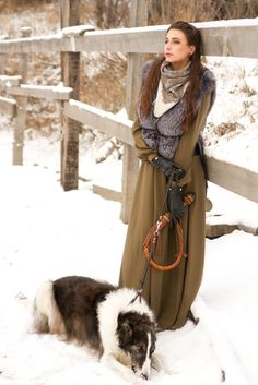Russian lady with borzoi. #borzoi #dogs #Russian