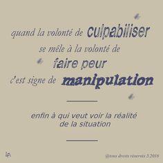 manipulation par culpabilisation et peur