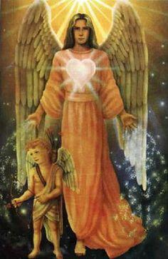 Arcángel Chamuel es el Ángel del Amor y su Llama Gemela es la Caridad. Servicio Mundial de Chamuel es como un guerrero, similar al Arcángel Miguel, pero trabaja con traer el amor a lo largo de la Paz Mundial.