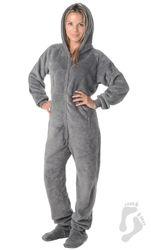 Howling Moon Hoodie One Piece -  Adult Hooded Footed Pajamas   One Hooded Piece Pjs   Adult Hooded Pajamas