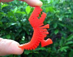 Diseño 3D de T-Rex Flexible - ThingsCreators.com