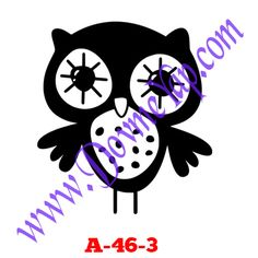 Baykuş Geçici Dövme Şablon Örneği Model No: A-46-3
