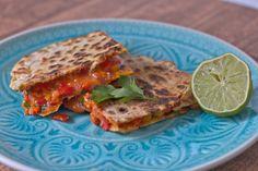 Tolles Rezept für Quesadilla vom Grill. Wer sie nicht vom Grill möchte, kann die Quesadilla mit Paprika auch zu Hause in der Pfanne zubereite
