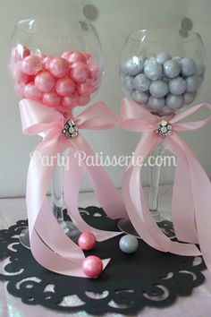 Gorgeous display for gumballs!