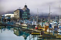 """""""Whittier Harbor, Alaska"""" by Doug Porter on 500px - This is a photograph that speaks for itself. However, it definitely depicts the great reflections in the harbor."""