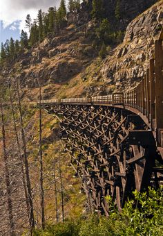 Koksilah River Trestle (Kinsol Trestle Bridge), Vancouver Island, British Columbia, Canada wooden trestle built for steam trains Vancouver Island, Canada Vancouver, British Columbia, Quebec, Rocky Mountains, Ontario, Alaska, Railroad Bridge, Belle Villa