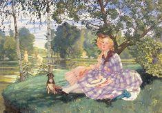 Summer, 1919, Konstantin Somov. #russia #art #drawing #somov