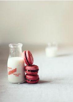 Macarons & milk by http://www.katiequinndavies.com.au/