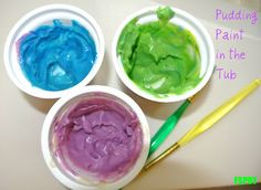 DIY Baby's First {Safe} Finger Paints