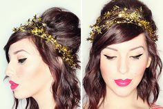 DIY this star garland crown for New Year's Eve.