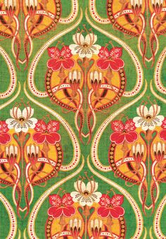 Russian roller printed fabric circa 1900