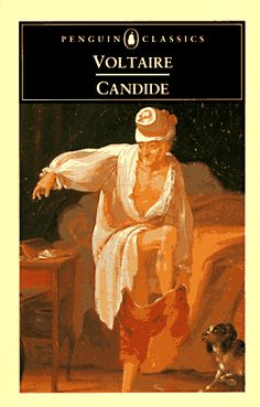Candide is a French satire written by Voltaire in 1759.  Candide is a young man who lives a pampered & sheltered life in Westphalia (Germany). Candide's idyllic life come ends when he is chased from his settings and begins a wandering life full of adventures.