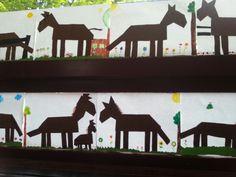 Paarden vouwen (16 vierkantjes)