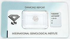Foto 1, Diamant, Top-Gutachten IGI!!! 1,03ct VG/VG! Wert Juwel!, D5514