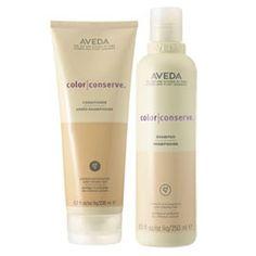 Aveda Color Conserve Shampoo and Conditioner...LOve , Love , Love....