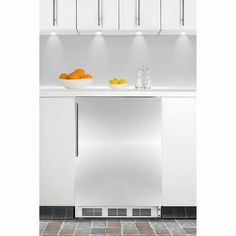 (Limited Supply) Click Image Above: Ada Compliant Built-in Refrigerator-freezer In White With Cycle Defrost, Stainless Steel Door, Thin Handle, And Glass Shelves Summit Refrigerator, Compact Refrigerator, Refrigerator Freezer, Wire Shelving, Adjustable Shelving, Door Storage, Locker Storage, Undercounter Refrigerator, Upright Freezer