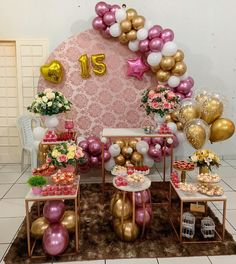 30th Birthday Parties, Ideas Para Fiestas, Ornament Wreath, Balloons, Table Decorations, Rose, Home Decor, Instagram, Welcome Party