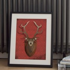 Detailed illustration of the iconic stag