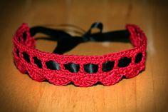 203. Spiderling Dreams: Crochet Bracelet ------------------- Key: Needlecraft, Ribbon, Bracelets, Red, Black