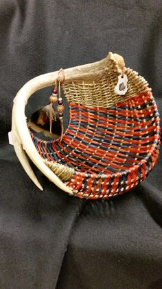 Chi Town Orange and Blue with turkey and pheasant feathers ... pine lake antler baskets on FaceBook
