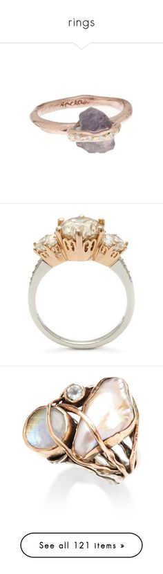 """rings"" by moofka ❤ liked on Polyvore featuring jewelry, rings, accessories, fillers, stone rings, crystal rings, red gold ring, crystal jewelry, crystal jewellery and diamond band wedding ring"