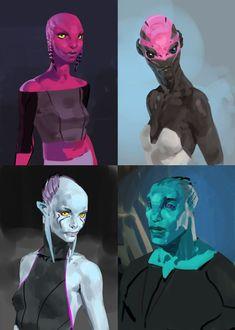 Alien concept art character design 62 Ideas for 2019 Humanoid Creatures, Alien Creatures, Fantasy Creatures, Alien Character, Character Concept, Character Art, Monster Anime, Zentangle, Concept Art Landscape
