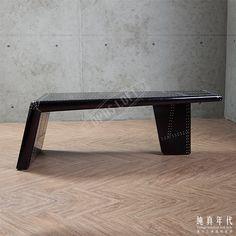 【OPUS LOFT】復古工業 飛行風 黑鋁皮 咖啡桌神秘經典黑色鋁皮矮桌,機翼造型讓飛行風格強烈呈現