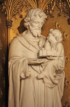 https://flic.kr/p/68vt5U | St Joseph, Patron of the Universal Church | St Joseph, guardian of the infant Jesus, is honoured as patron of the Universal Church. He is depicted as such in this statue in the Church of the Immaculate Conception on Farm Street in London.  His feast is 19 March.