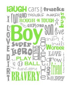 Boy nursery wall art