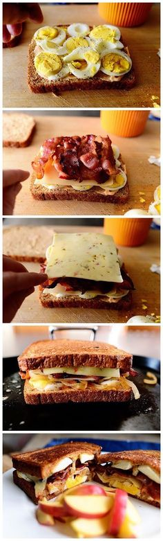 Although this sandwich is especially good with Grafton Reserve Cheddar, make it with any sharp cheddar cheese that you have on hand. Grilled Sandwich, Soup And Sandwich, All Recipes Pancakes, Breakfast Recipes, I Love Food, Good Food, Yummy Food, Healthy Food, Allrecipes Desserts