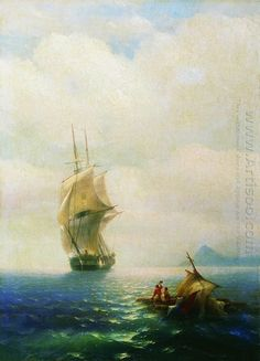 After The Storm 1854 by Ivan Aivazovsky - Romanticism Style