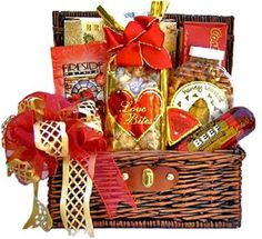 Sweet & Savory Valentines Day Snacks for Him | Romantic Gift Basket for Men