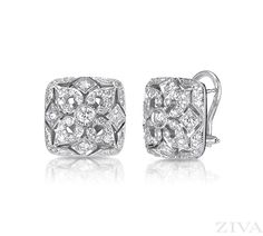 Ziva earrings come in a elegant array of gemstones and designs to choose from, Levy's Fine Jewelry in Birmingham has all the latest styles. Silver Diamonds, Diamond Studs, Diamond Jewelry, Diamond Earrings, Stud Earrings, Vintage Earrings, Vintage Jewelry, Vintage Art, 14k White Gold Earrings