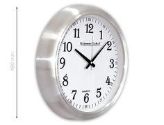 Gar Metal Duvar Saati  Ürün Bilgisi;  Alüminyum Çerçeve Çap 48 cm. Sessiz Akar Saniye Mineral Cam