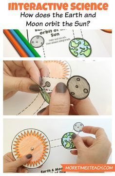 This HANDS ON and INTERACTIVE science activity helps clear up misconceptions about how the EARTH and MOON orbit the SUN.