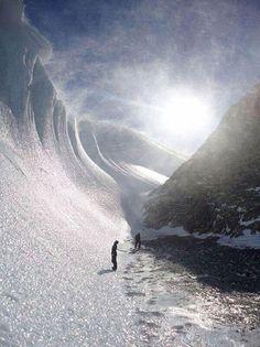 Frozen wave in Antarctica...
