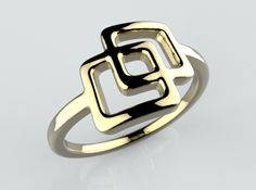 2 squared by Likesyrup @Shapeways #ring #jewelry